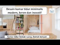 Desain kamar tidur minimalis modern, keren dan inovatif
