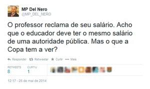 Del Nero twitter salários professores Copa do Mundo (Foto: Reprodução / Twitter)