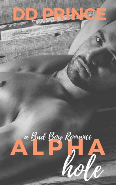 Book Cover for contemporary romance Alphahole by DD Prince.