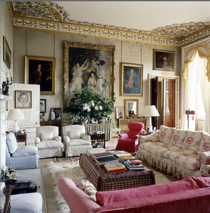 English Manor House Drawing Room Burnsocial