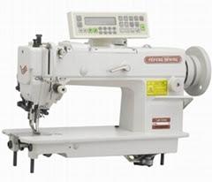 superior e inferior de alimentación de la máquina de coser del punto de cadeneta