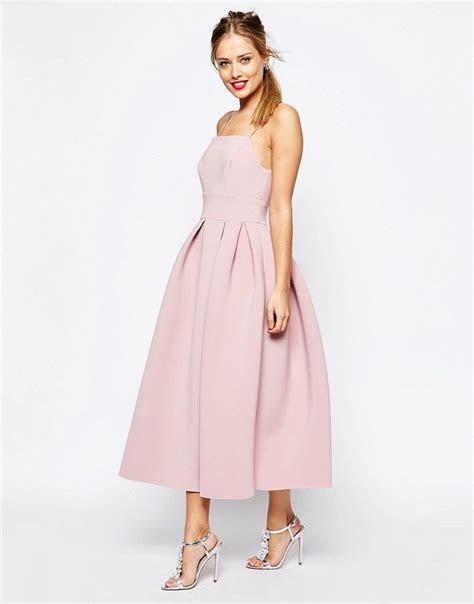 SALON Strappy Pinny Scuba Prom Midi Dress   Fashion   Prom