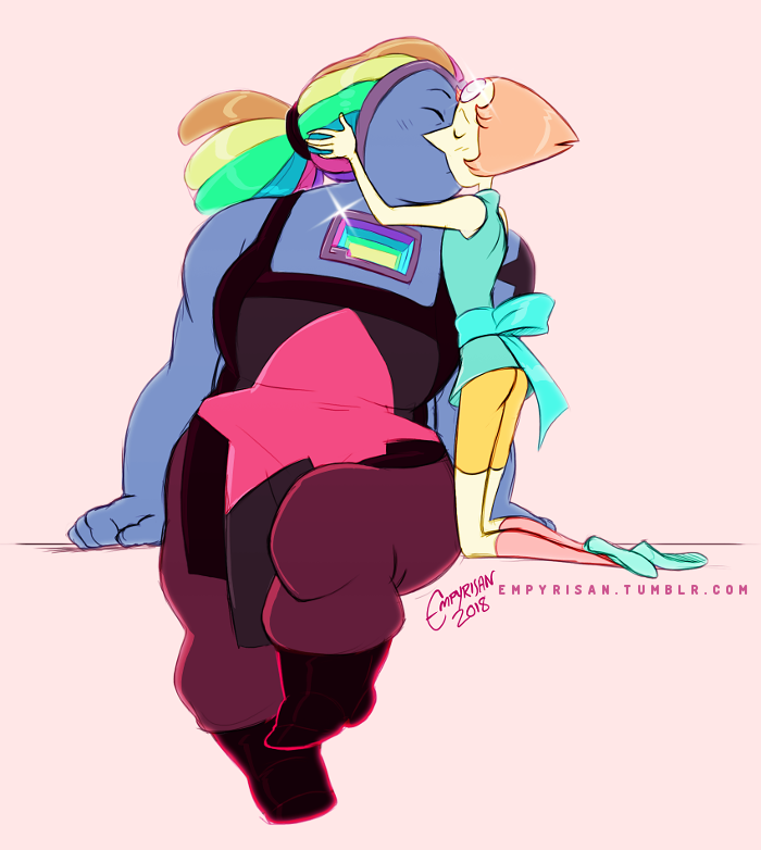 Week of Bispearl - First Kiss I've waited over five thousand years to finally kiss you. (For @heckyeahbispearl's #weekofbispearl!)