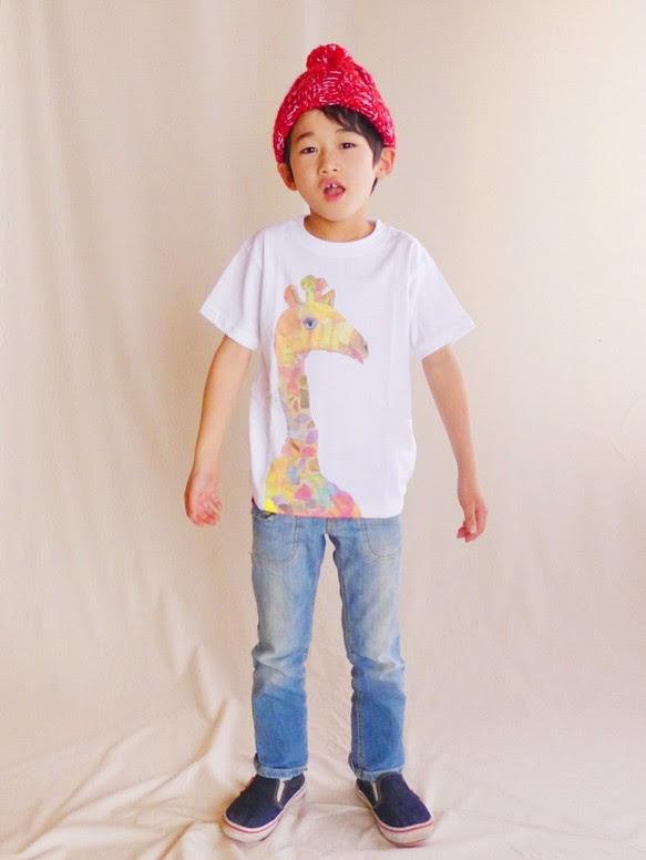 MotokoTakaheiオリジナルTシャツ【きりん】90~130