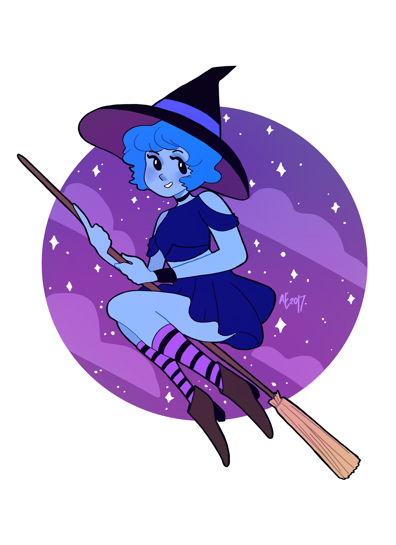 a little witchy lapis because its going to be halloween soon! :D