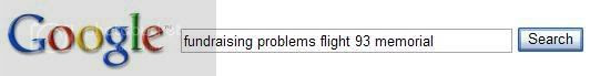 Google search for fundraising+problems+Flight+93+memorial