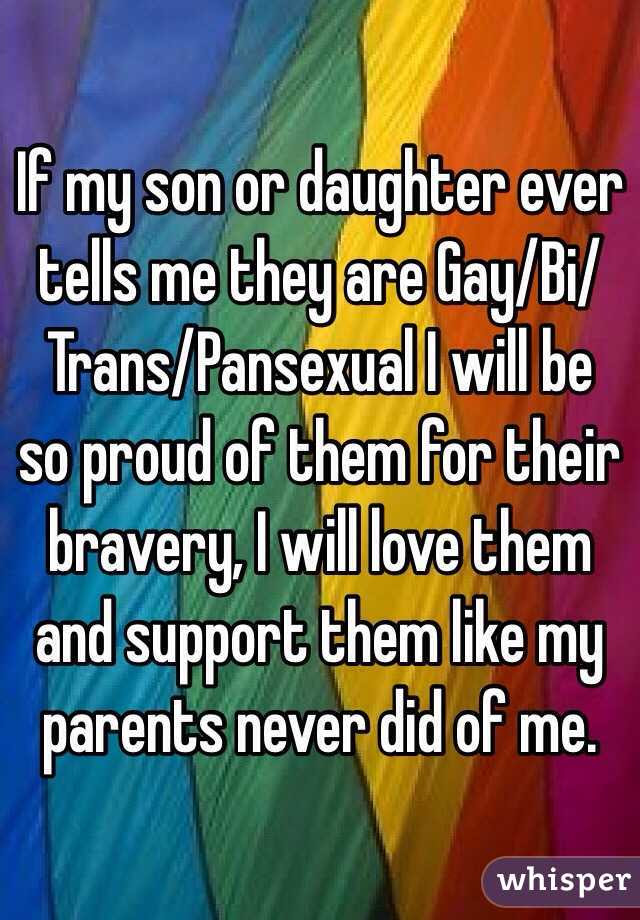 If My Son Or Daughter Ever Tells Me They Are Gaybitranspansexual