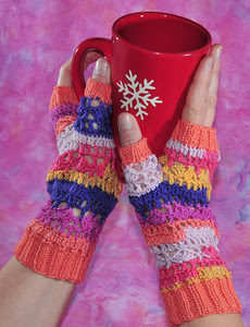 April Fool Fingerless Gloves