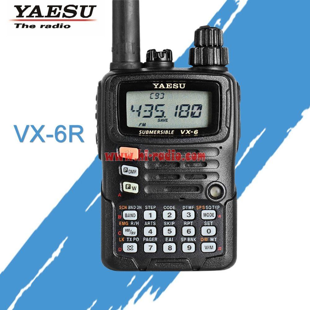 YAESU VX-6R Dual Band Ham Radio FM Transceiver Walkie Talkie