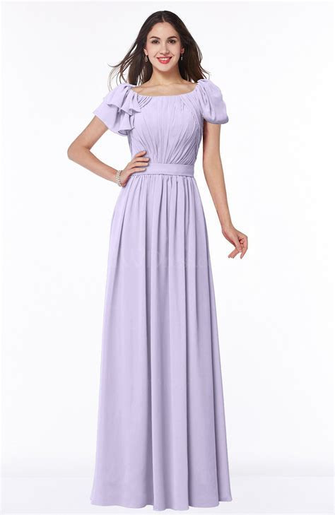 Light Purple Elegant Scoop Short Sleeve Zip up Chiffon