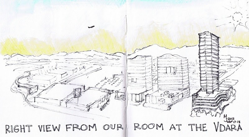MJ SKETCHBOOK | Urban Sketcher - Las Vegas view