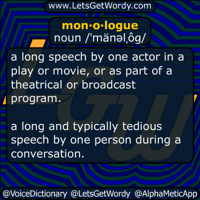 monologue 05/18/2015 GFX Definition