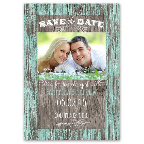Rustic Charm Save the Date Card   Ann's Bridal Bargains
