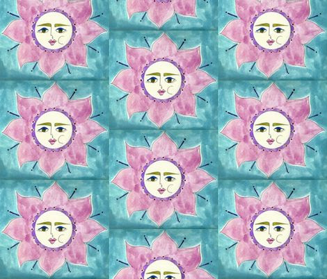 Miss Sun Custom Fabrics by Suzanne MacCrone Rogers via Spoonflower
