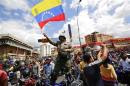 Motorcyclists take part in a protest against possible regulation and schedule bans as a measure to combat insecurity in Caracas