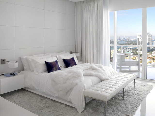 white master bedroom contemporary bedroom