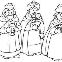 Dibujos Para Colorear Los 3 Reyes Magos Con El Nino Jesus Es