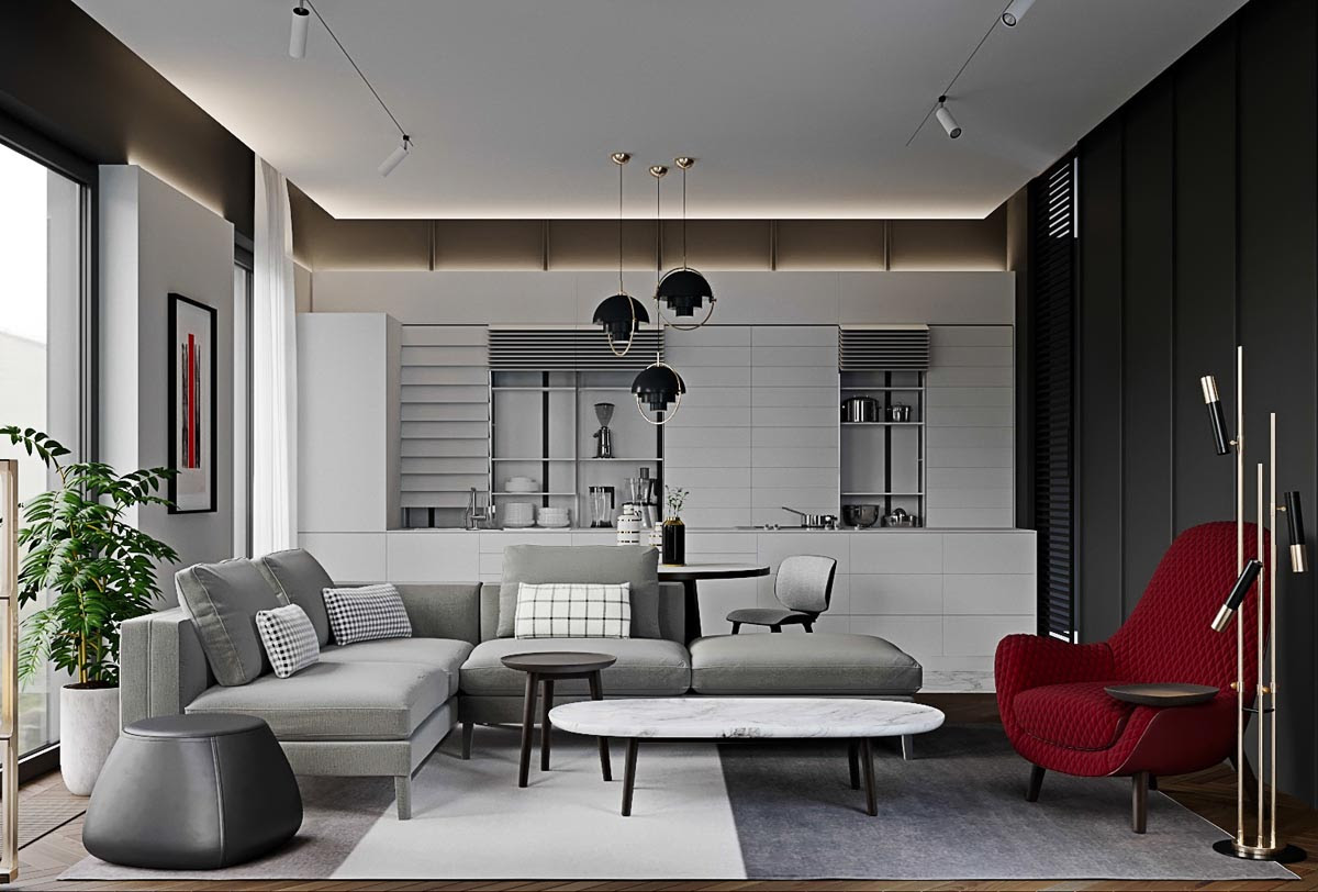 3 Red And Grey Modern Home Interiors In The Lap Of Luxury
