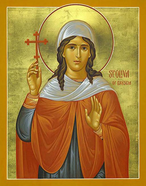 IMG ST. OLIVA of Brescia, Martyred in Brescia in the North of Italy