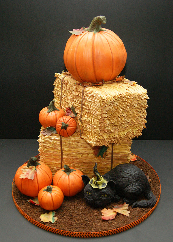 My Pumpkin and Hay Bale Cake
