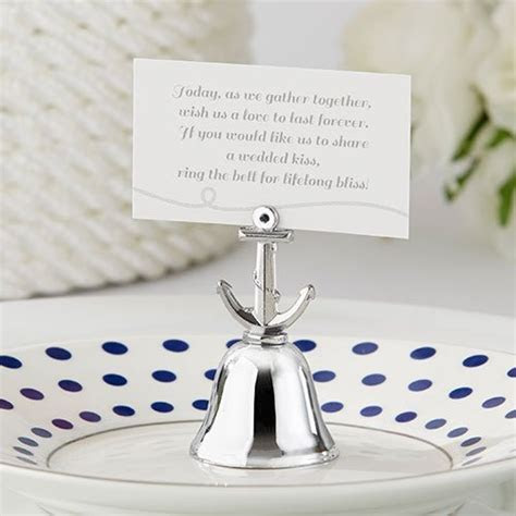 Anchor Kissing Bell Place Card Holders, Anchor Bell Place