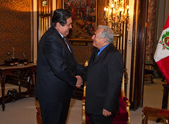 IMF Managing Director with Peru President Garcia