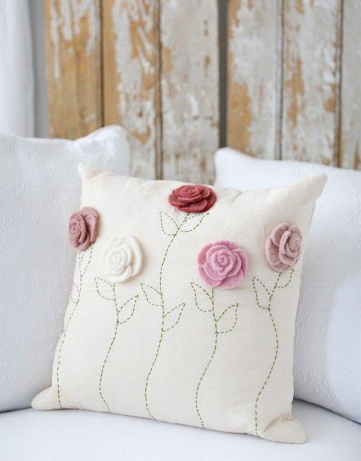 little flower pillow case handmade in Nepal {The Little Market}