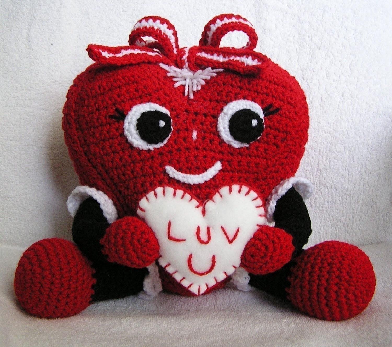 Pdf Crochet Pattern PUDGY VALENTINE HEART
