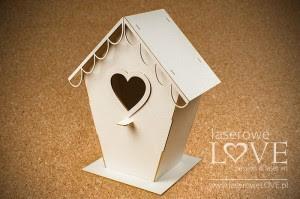 Tekturka - Domek dla ptaków Love, 3D