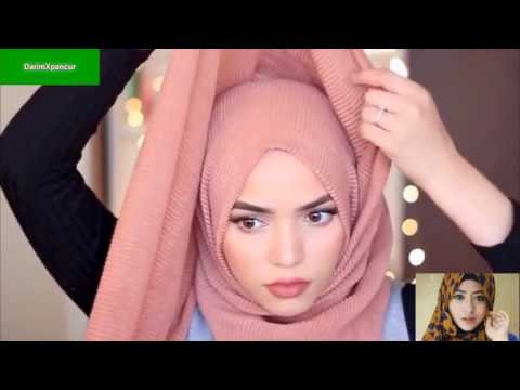 VIDEO : tutorial hijab style pashmina tanpa jarum -  ...