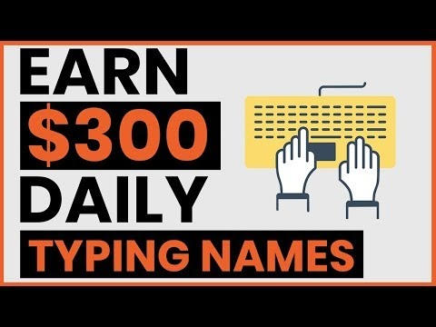 [WATCH]:Earn $300 By Typing Names Online! Available Worldwide (Make Money Online)
