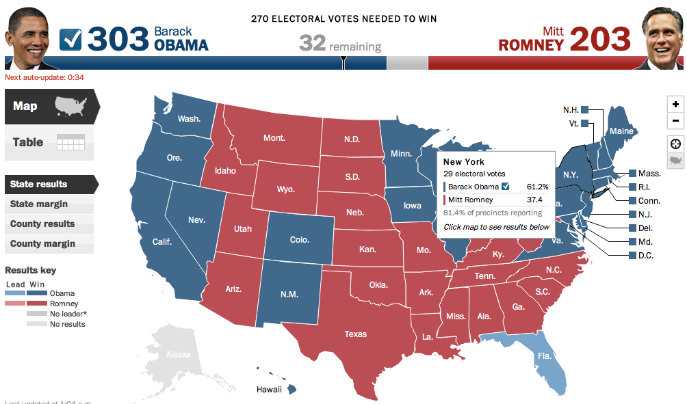 2012 Presidential Election Results By State Map.Pic Of Us Election Map Results