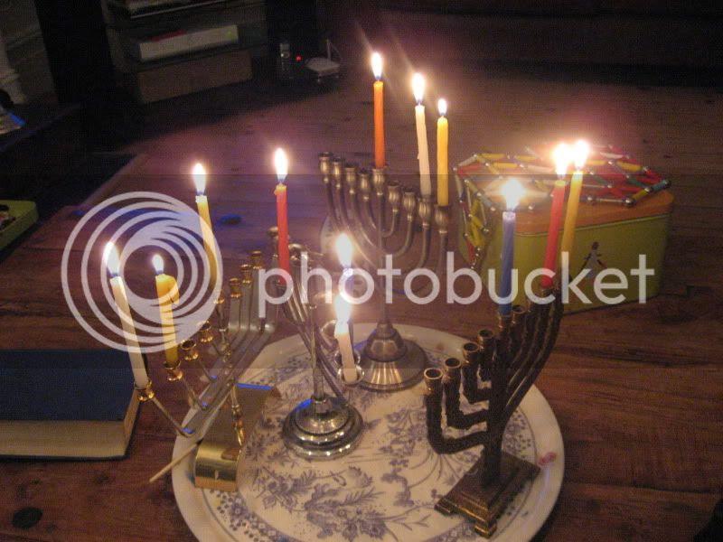 Keren's Chanucah candles