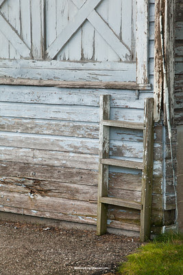 Old Fashioned Dock Doors with Ladder, Jefferson County, Wisconsin