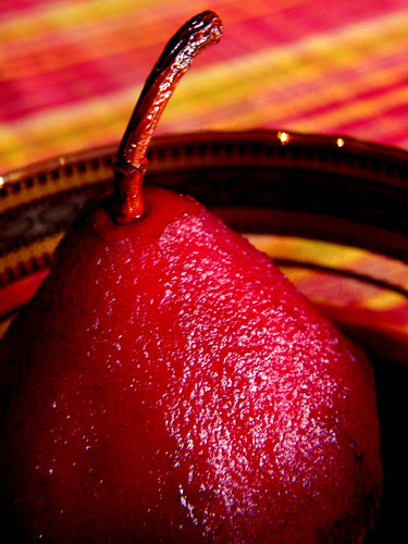 Spiced Pears Poached In Wine