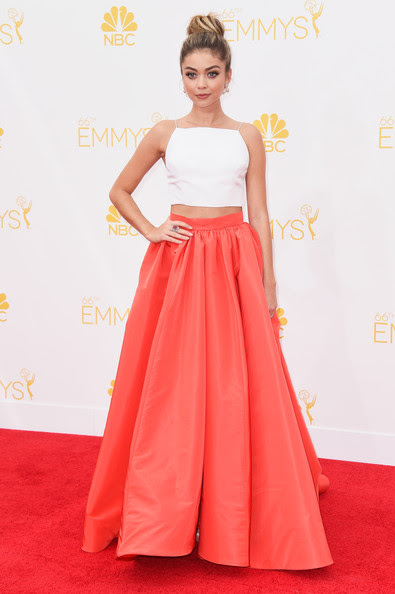Actress Sarah Hyland attends the 66th Annual Primetime Emmy Awards held at Nokia Theatre L.A. Live on August 25, 2014 in Los Angeles, California.
