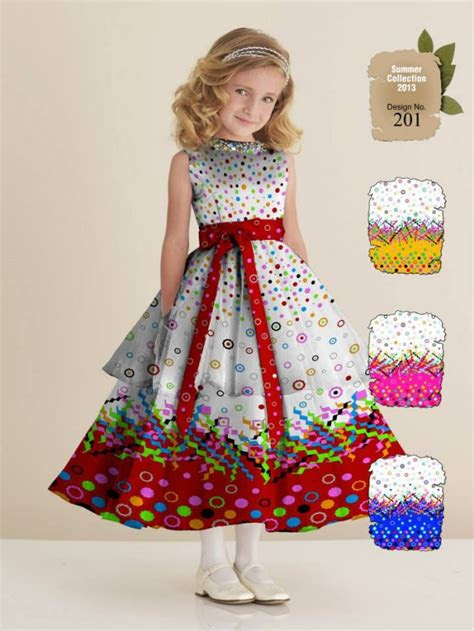 fashion style ajwa kids child summer lawn dress