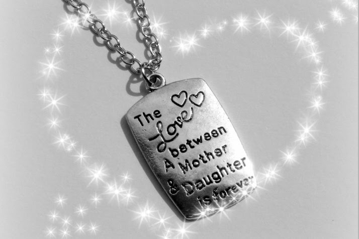 Ketting The Love Between An Mother And Daughter Is Forever Purple7star