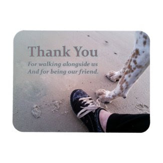We Thank You Rectangular Photo Magnet