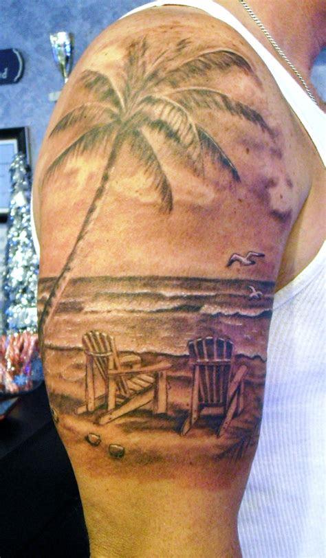 beach scene tattoo  stevie lange beach tattoo sunset