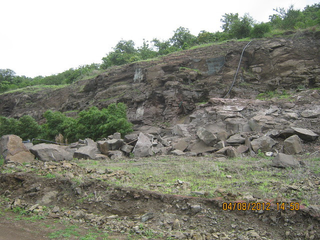 Cut, Demolished & Destroyed Hill of XRBIA Hinjewadi Pune - Nere Dattawadi, on Marunji Road, approx 7 kms from KPIT Cummins at Hinjewadi IT Park - 86