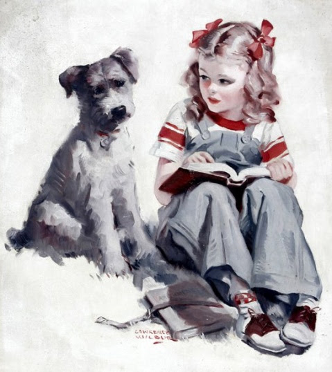 Young Girl & Dog.bmp