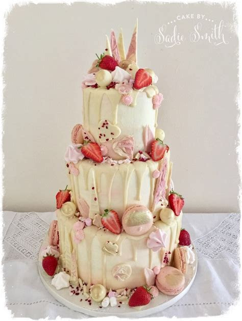 Chocolate Drip Wedding Cake   Cake by Sadie Smith