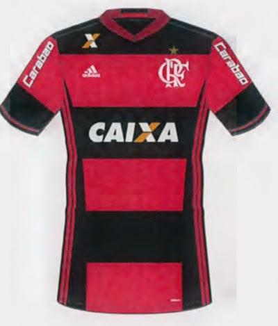 Carabao, na manga, é a nova patrocinadora do Flamengo (Foto: Reprodução)