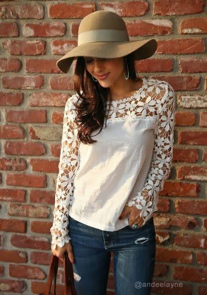Cut Out Crochet Top #fashion #stylish #womenfashion #clothing #dress