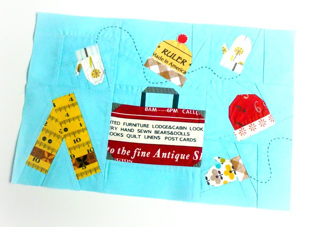 Let's hit the slopes! November Cocorico Bee block for Krista