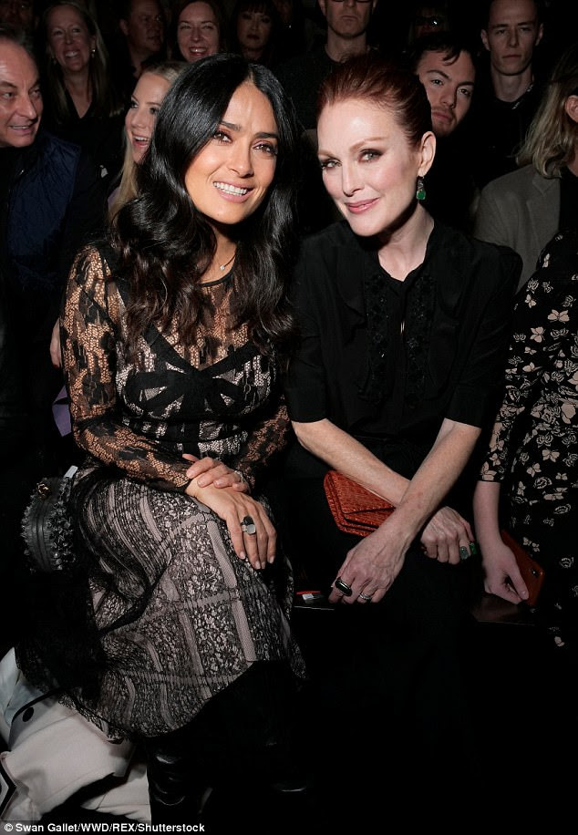 Famous friends: ela colocou com Salma Hayak