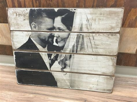 Wood Photo Blocks and Photo Pallets   Bruiloften   Photo