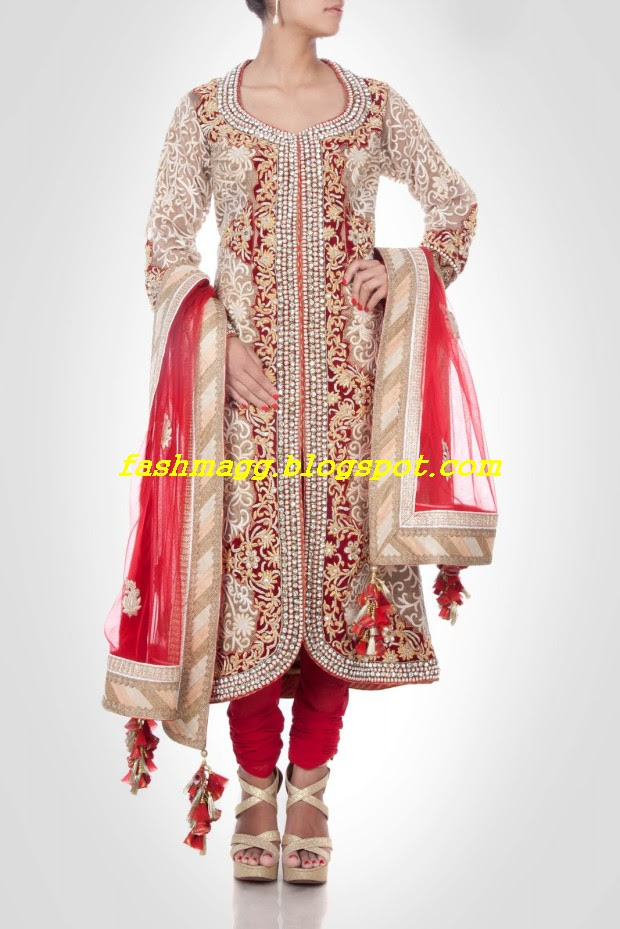 Amazing-Bridal-Wear-Indian-Fashionable-Dress-Designs-for-Cute-Girls-11