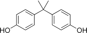 chemical structure of bisphenol A